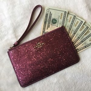 Authentic Pink Sparkly Coach Wallet